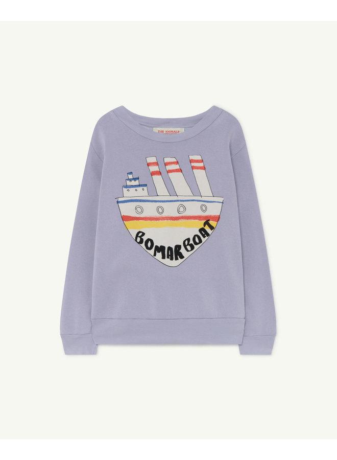 The Animals Observatory - Bear Kids+ Sweatshirt - Soft Purple Boat