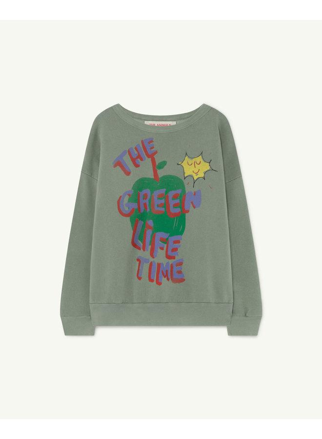 Big Bear Kids Sweatshirt - Soft Green Apple