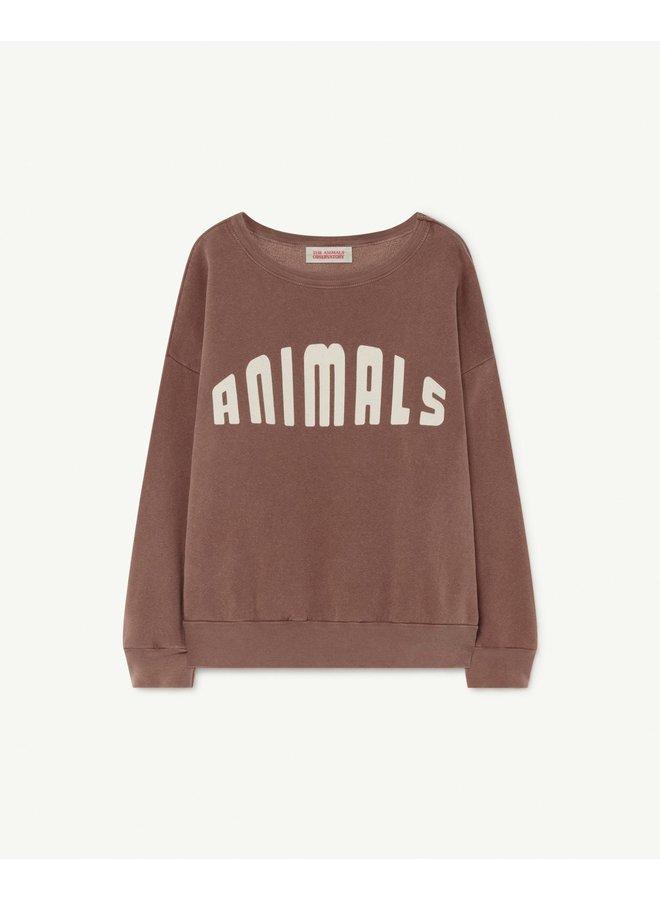The Animals Observatory - Big Bear Kids Sweatshirt - Brown Animals