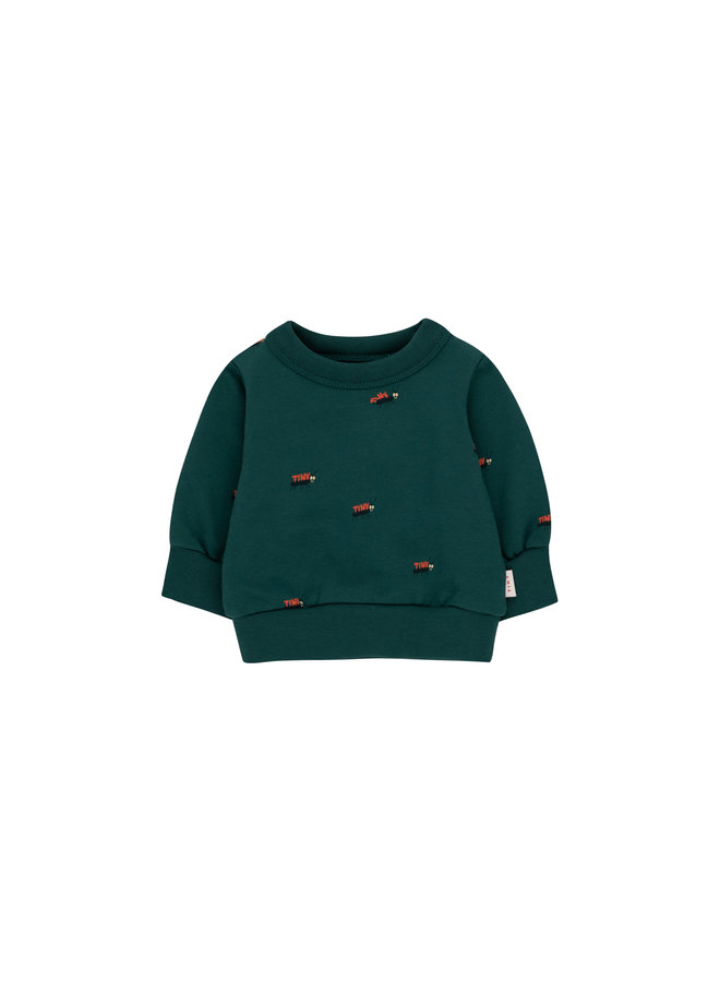 Tiny Cottons - Ants Baby Sweatshirt - Stormy Blue/Ink Blue