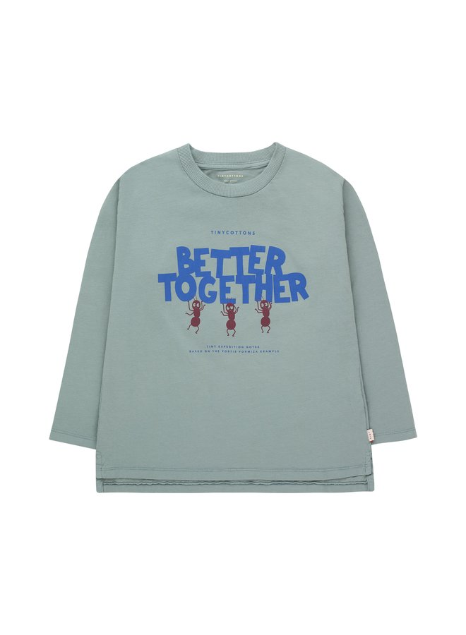 Tiny Cottons - Better Together Tee - Foggy Blue/Ultra Marine