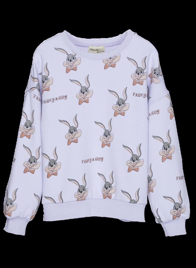 Wander & Wonder Bunny Sweatshirt -  Mauvre Bunny