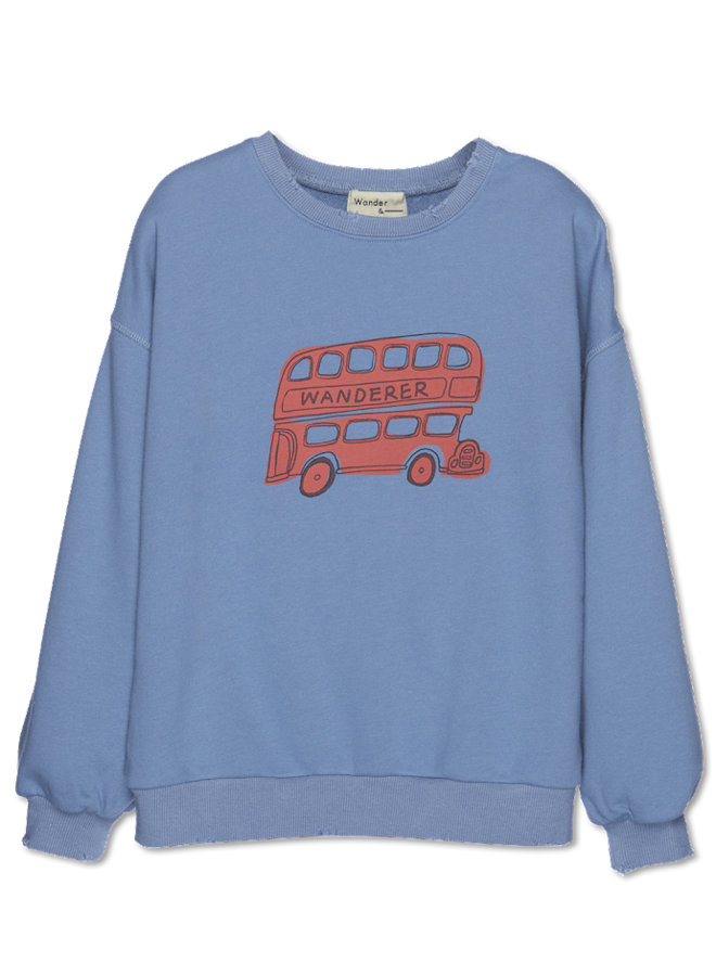 Wander & Wonder - Bus Sweatshirt - Fog