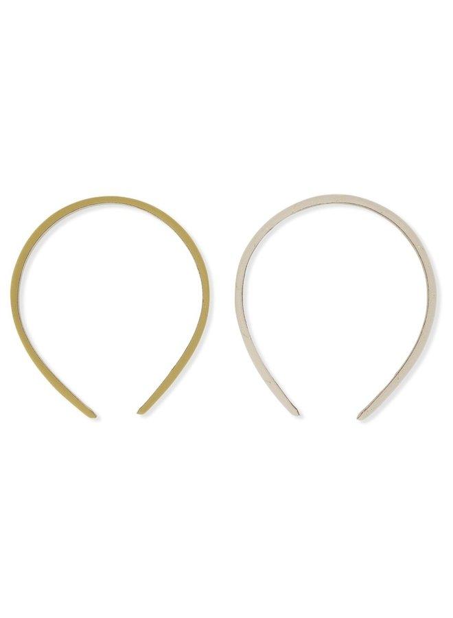 Konges Sløjd - 2 Pack Hairbrace - Moonlight Check/Mustard Gold