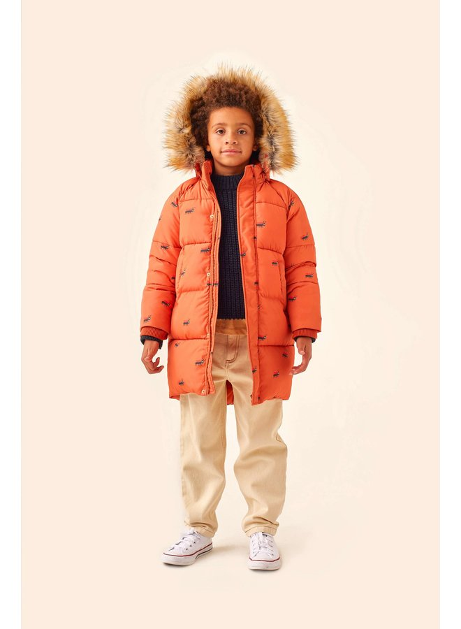 Tiny Cottons - Ants Padded Jacket - True Brown/Ink Blue