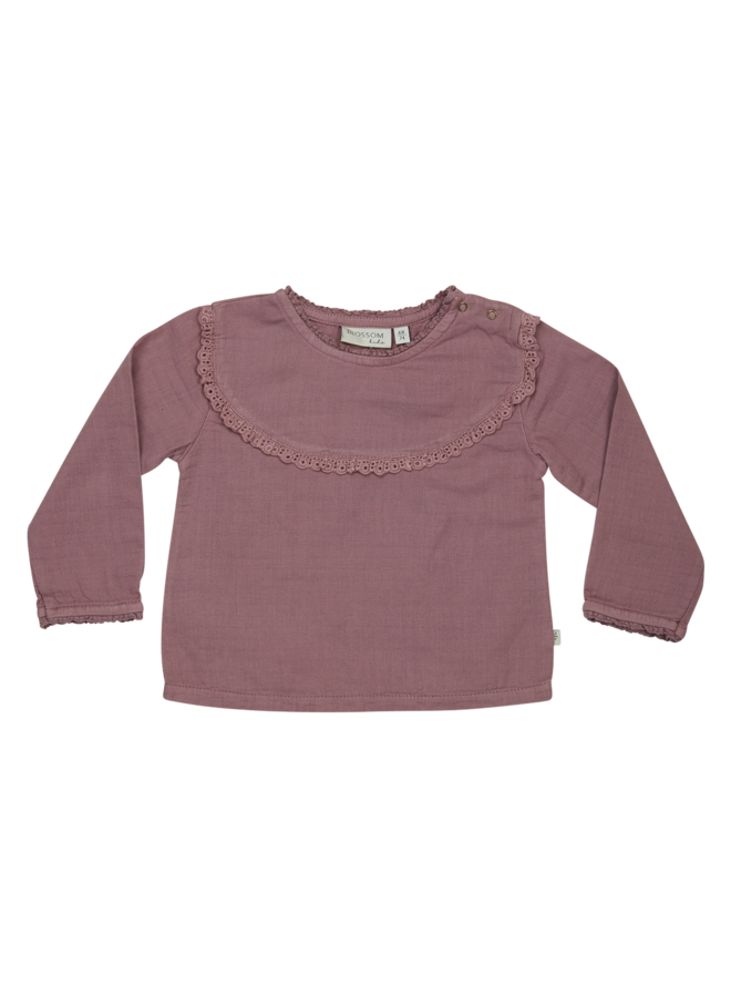 Baby Tunic With Lace - Dusty Violet