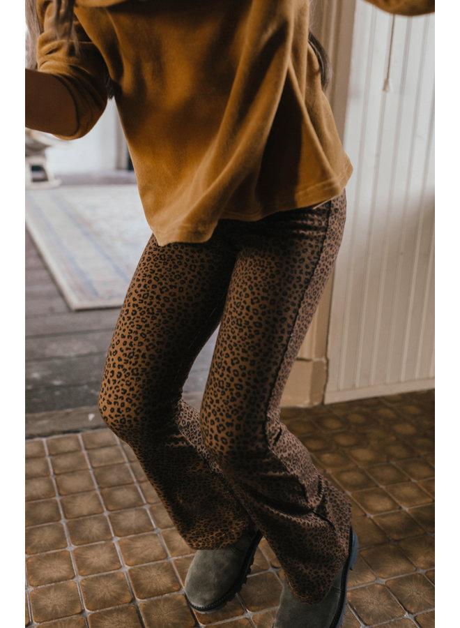 Petit Blush - Bowie Flared Pants - Brown Leopard AOP