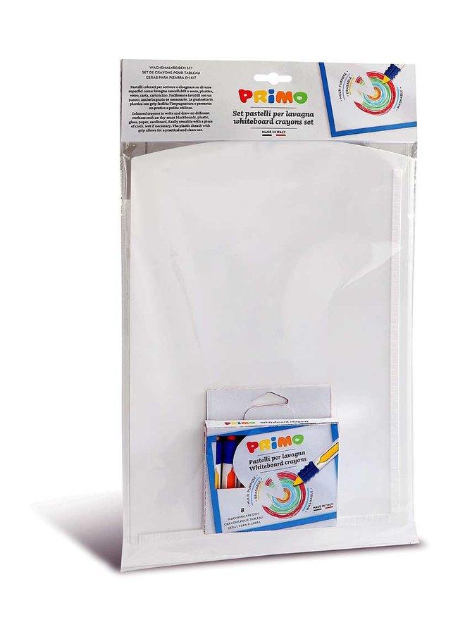 8 Waskrijt uitwisbaar met grip ø9x80mm en whiteboard