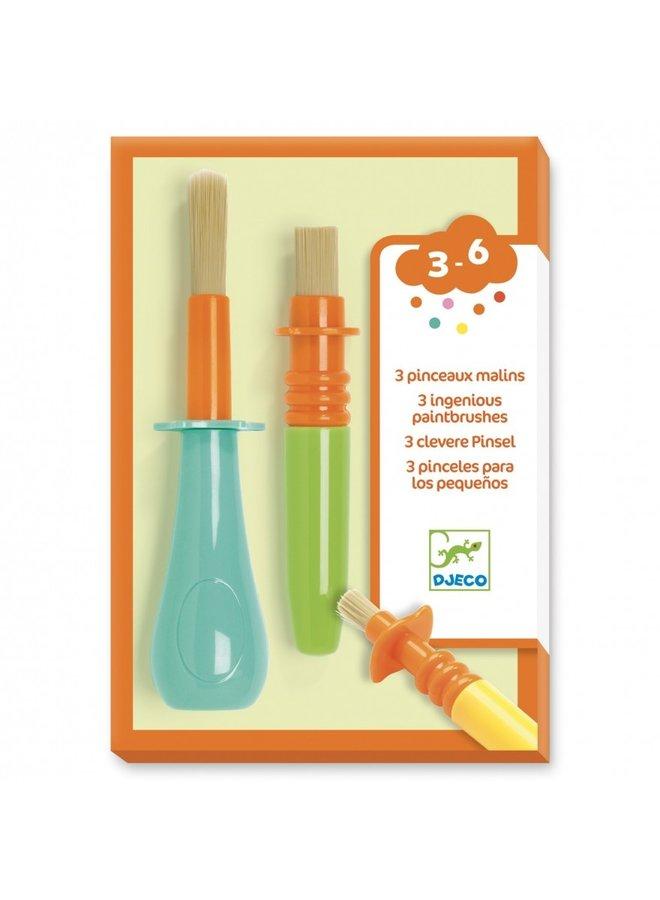 Djeco - 3 Ingenious Paintbrushes - DJ09007