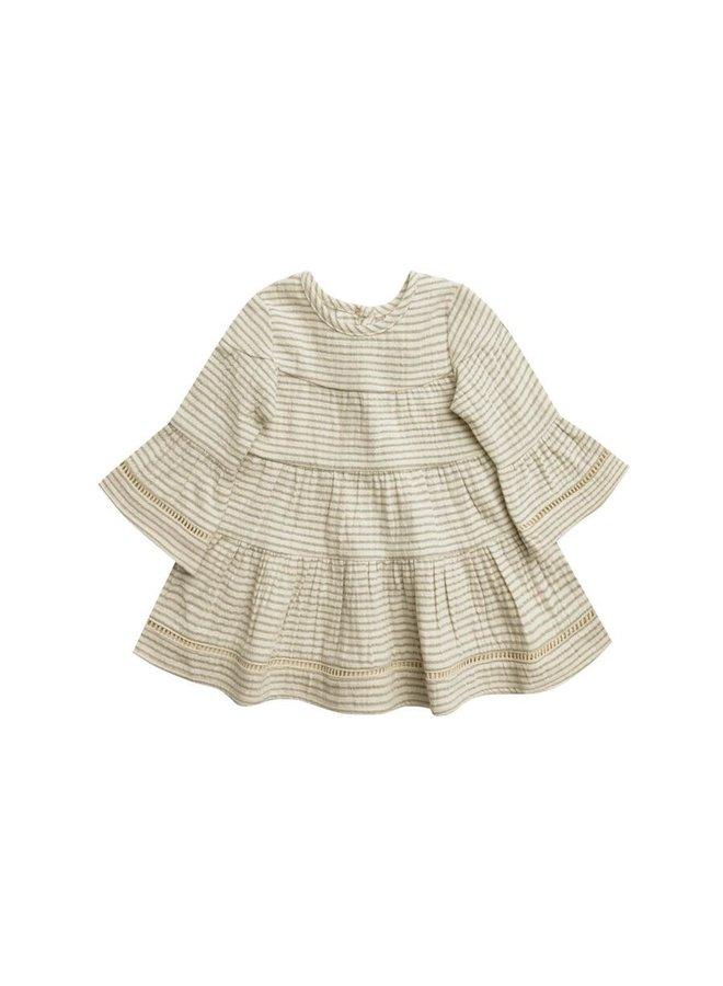 Belle Dress   Basil Stripe