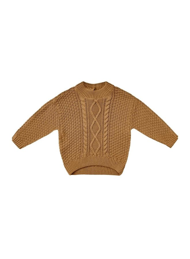 Cable Knit Sweater | Walnut