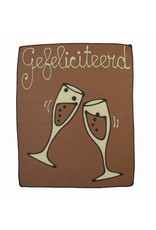 Visser Chocolade Champagne glazen - Gefeliciteerd