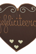 Visser Chocolade Hart - Gefeliciteerd