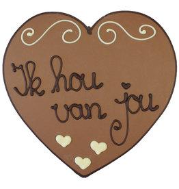 Visser Chocolade Hart - Ik hou van jou