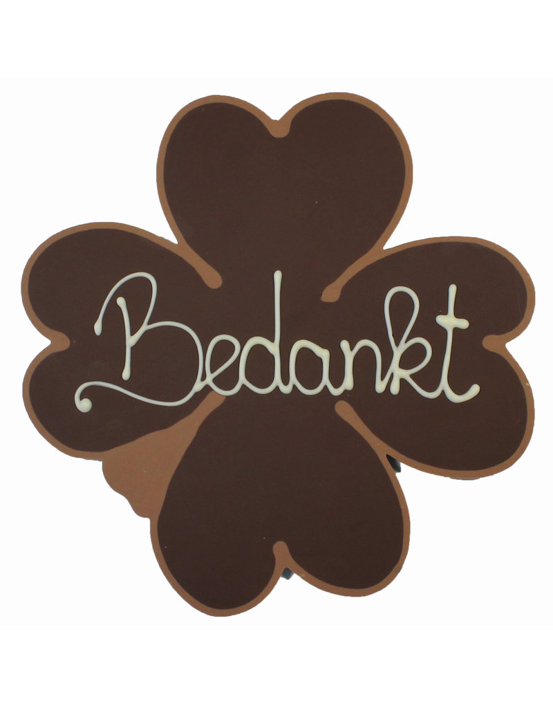 Visser Chocolade Klaver - Bedankt (Puur)