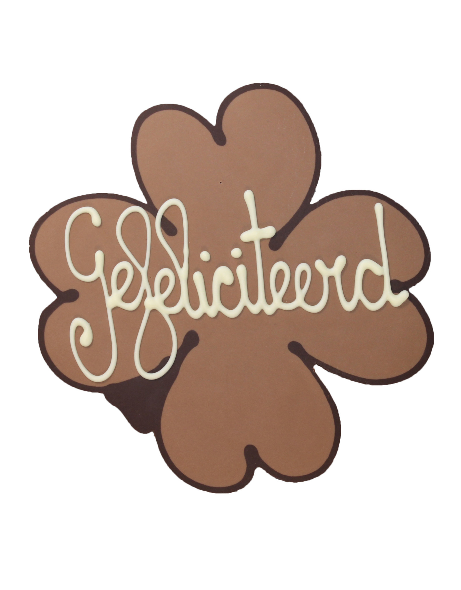 Visser Chocolade Klaver - Gefeliciteerd
