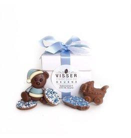 Visser Chocolade Doos - Baby - Blauw