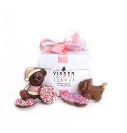 Visser Chocolade Doos - Baby - Roze