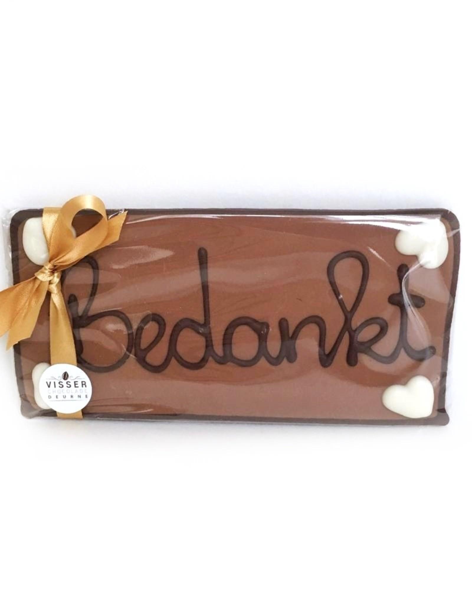 Visser Chocolade Bedankt - Klein