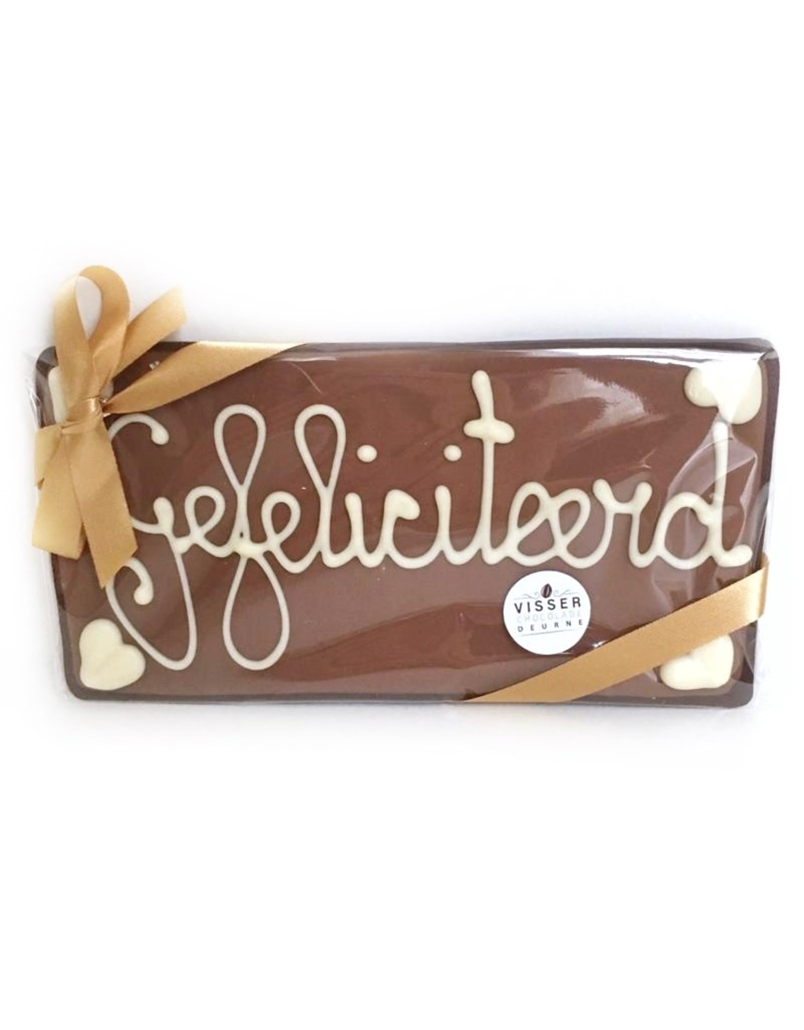 Visser Chocolade Gefeliciteerd - Klein