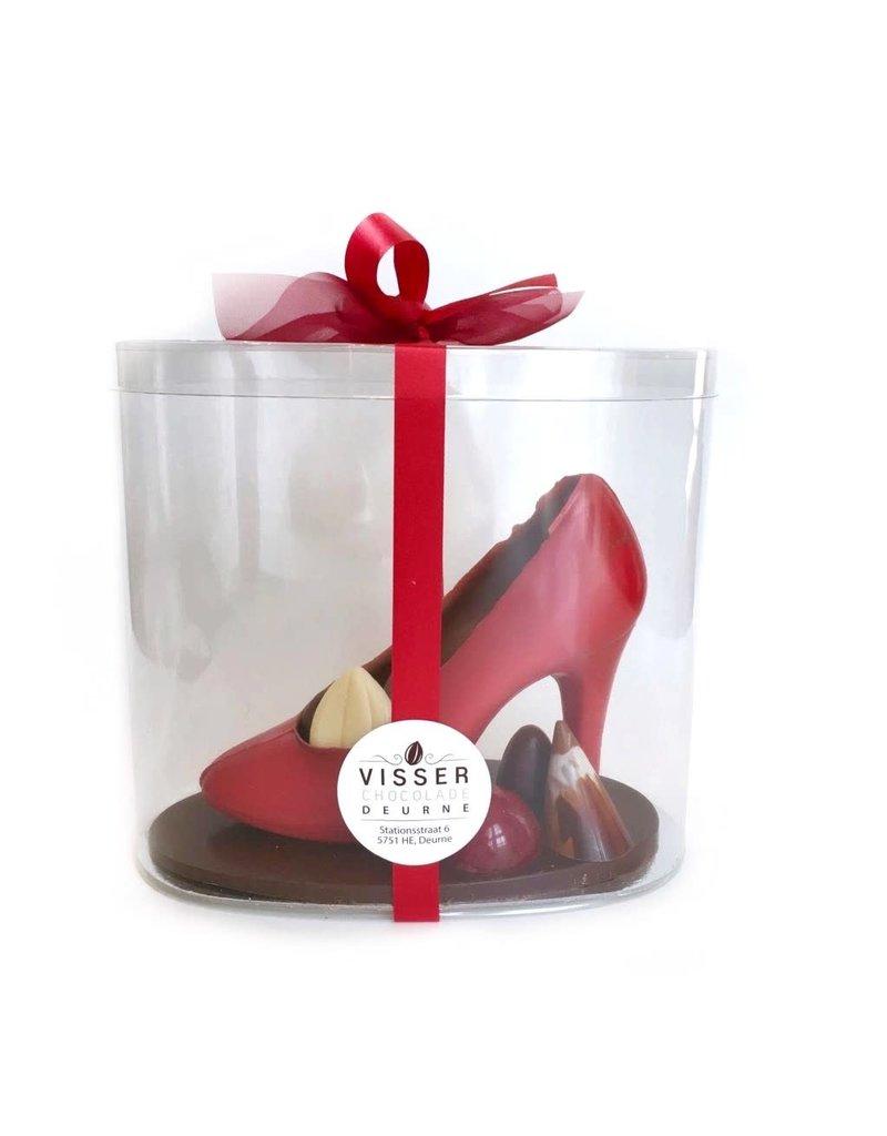 Visser Chocolade Pump in koker - Rood