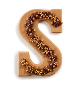 Dragee 30% korting! - Dragee - Karamel Letter S Met Gouden Crunch