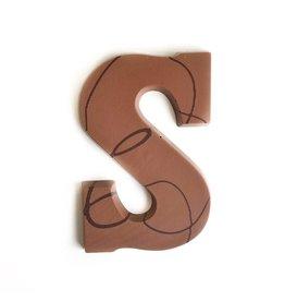 Visser Chocolade Chocolade Letter - Melk - S