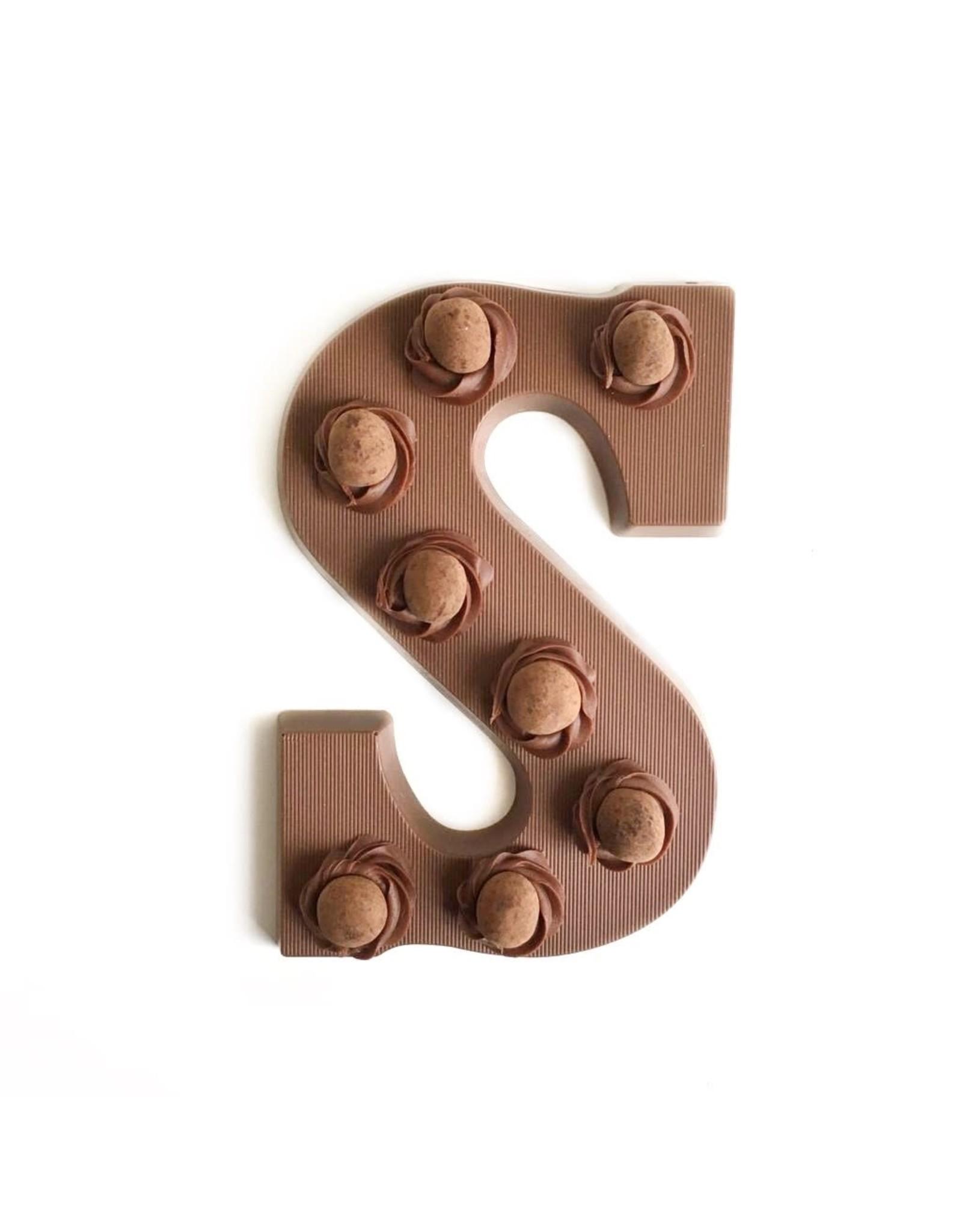 Visser Chocolade Chocolade Letter - Crispy Ball - Melk - S