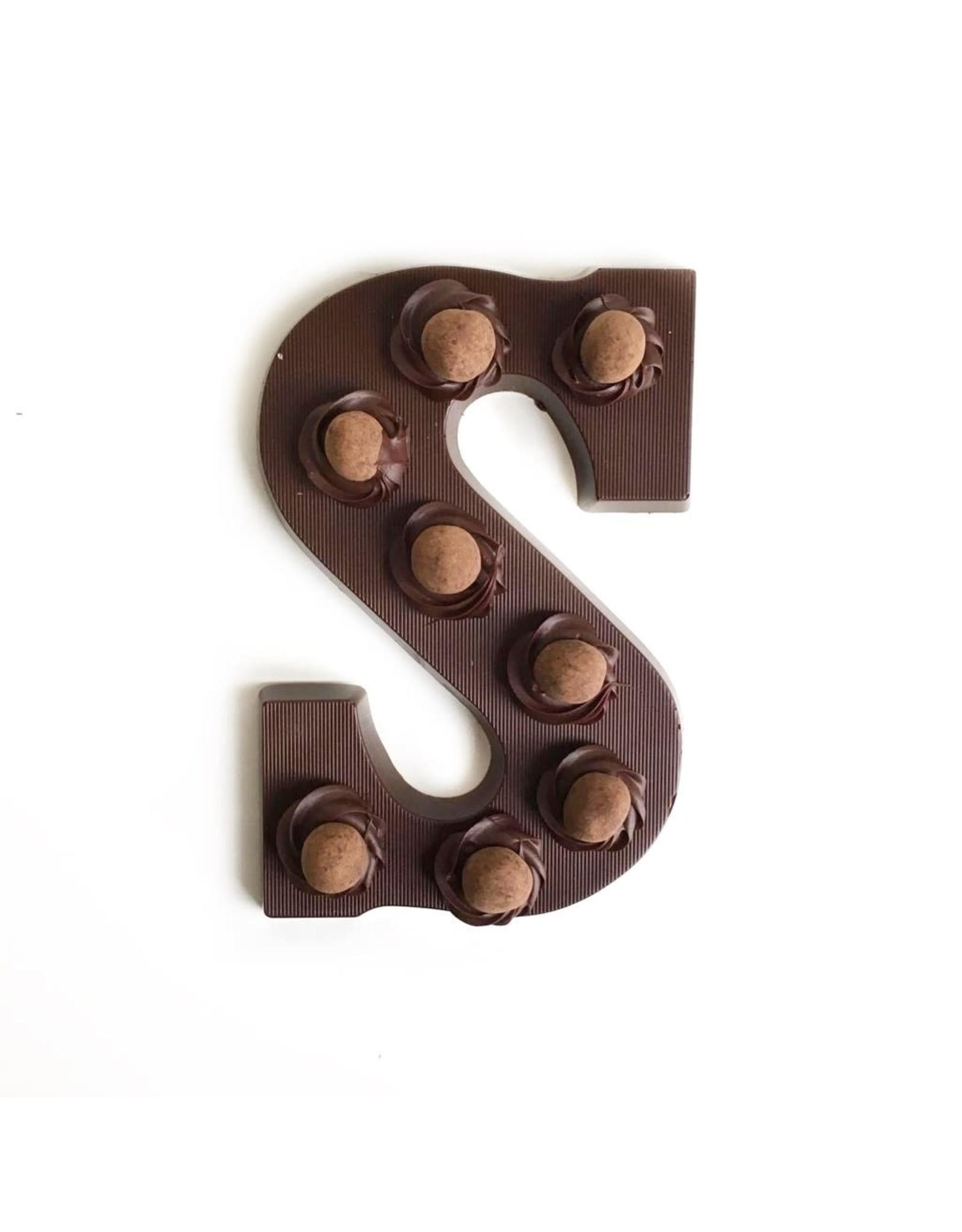Visser Chocolade Chocolade Letter - Crispy Ball - Puur - S