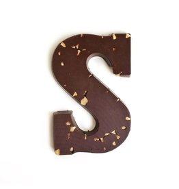 Visser Chocolade Chocolade Letter - Hazelnoot - Puur - S
