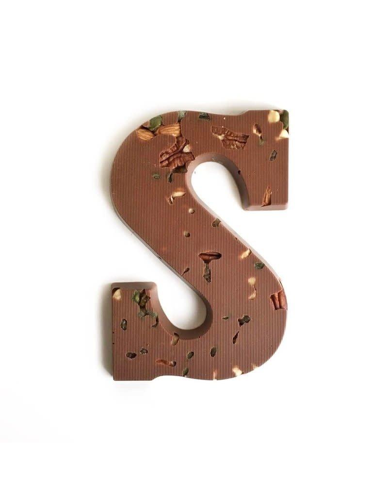 Visser Chocolade Chocolade letter - Studentenhaver - Melk - Alfabet