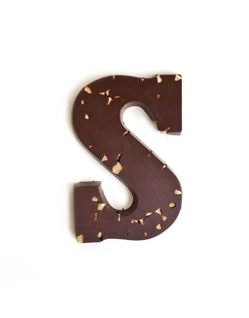 Visser Chocolade Chocolade letter - Hazelnoot - Puur - Alfabet