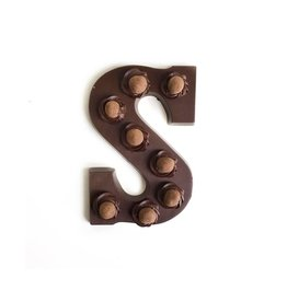 Visser Chocolade Chocolade letter - Crispy Ball - Puur - Alfabet