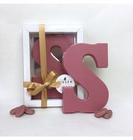 Visser Chocolade Chocolade Letter - Ruby - S