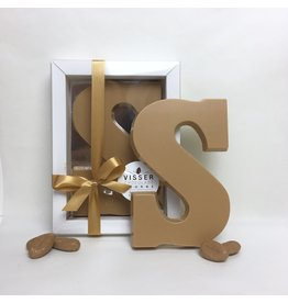 Visser Chocolade Chocolade Letter - Caramel zeezout - S