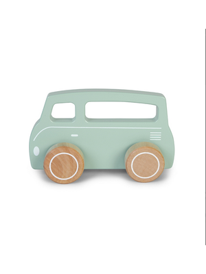 Little Dutch Busje hout - mint