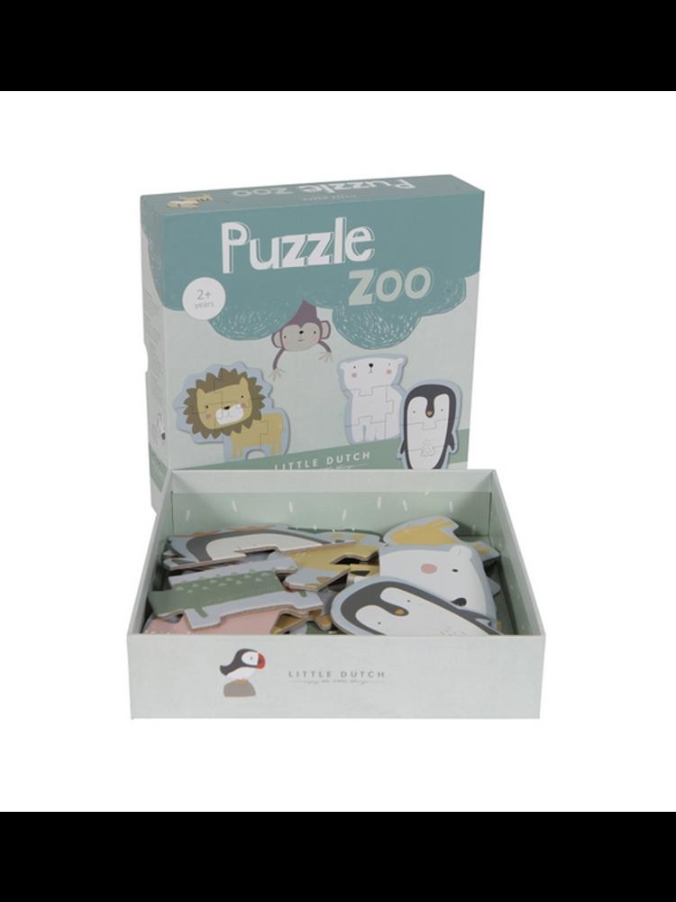 Little Dutch Dierenpuzzel karton - dierentuin