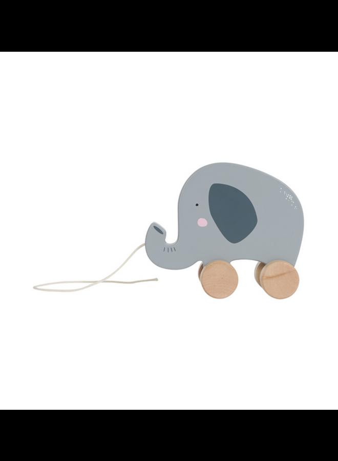 Houten trekdier - olifant