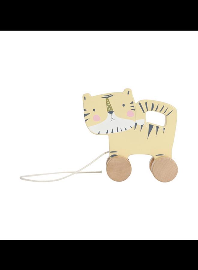 Houten trekdier - tijger