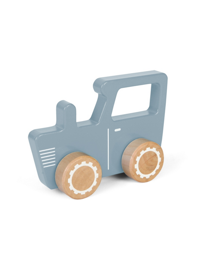 Tractor hout - blue