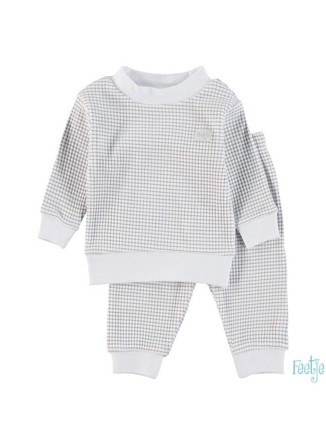 Pyjama wafel - Grijs