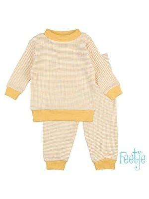 Feetje Pyjama wafel - Okergeel