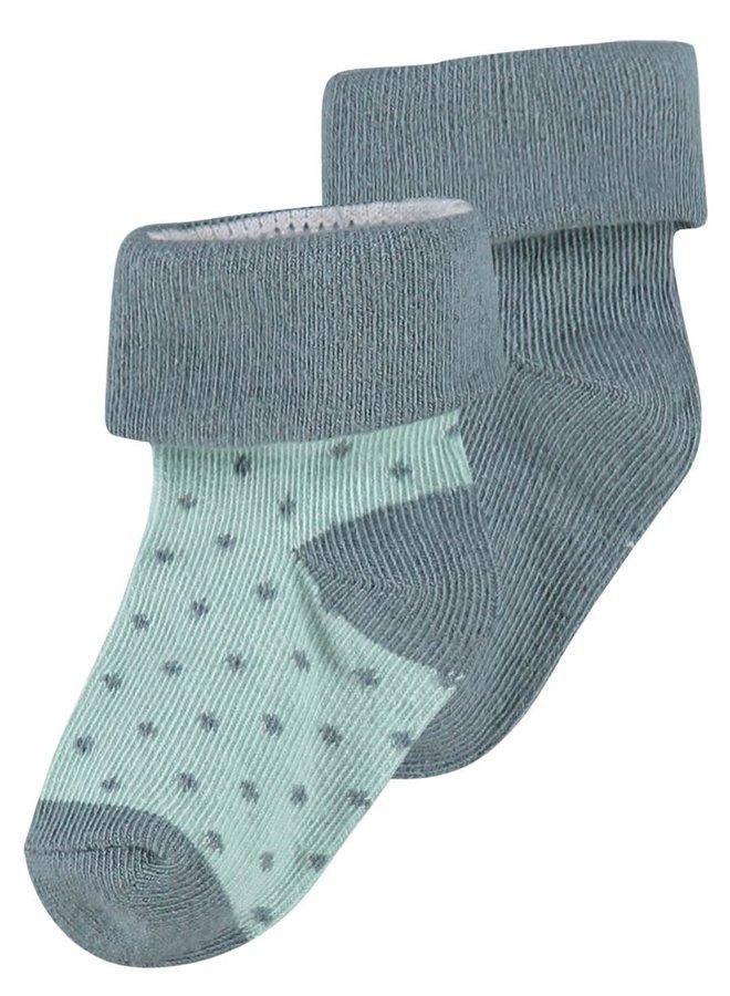 Sokken - 2pack - Dot - Dark Green