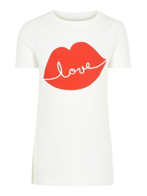 Name It Flamona ss Top - T-shirt - Snow White