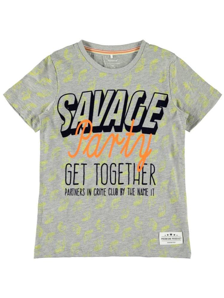 Name It Ghoto ss Top - T-shirt - Grey Melange