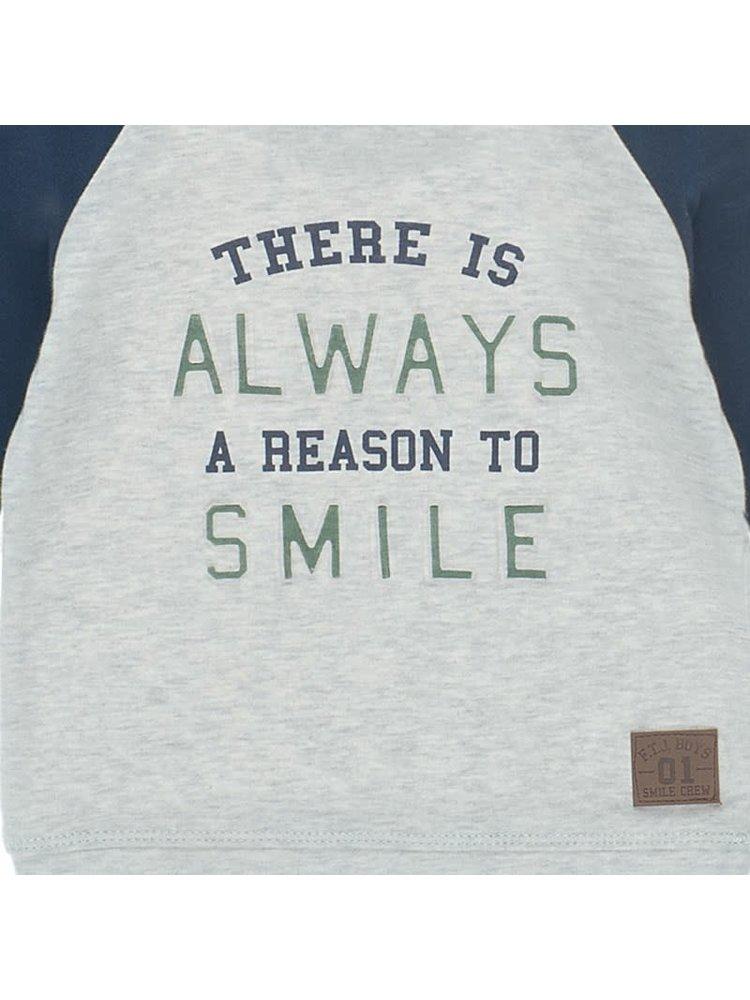 Feetje Longsleeve There is Always - Smile - Grijs Melange