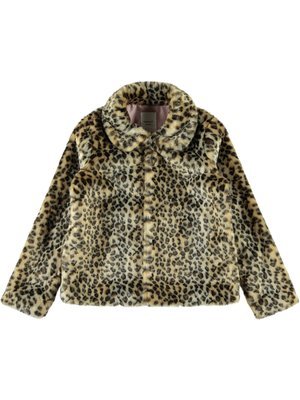 Name It Leopard Jacket - Turkish Coffee