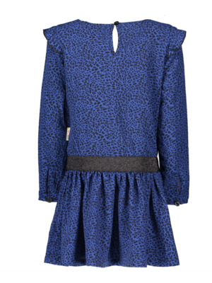 B.Nosy Girls - Dress with ruffle sleeve - Blue panther
