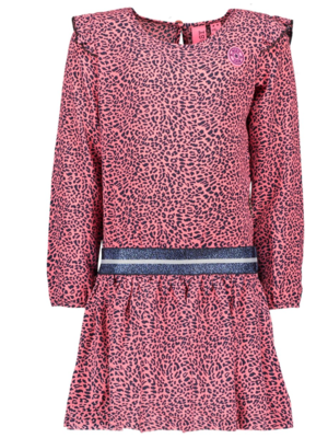B.Nosy Girls - Dress with ruffle sleeve - Pink panther