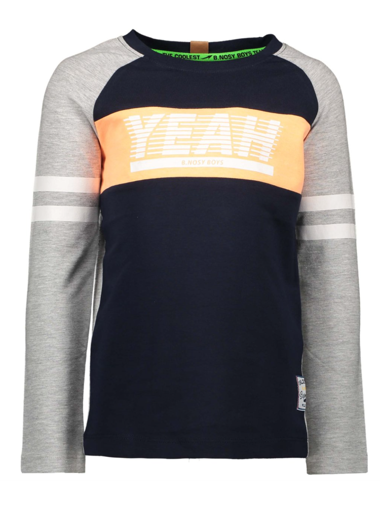 B.Nosy Boys - Longsleeve raglan shirt with contrast stroke on chest